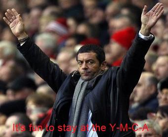 Phil Brown does the YMCA